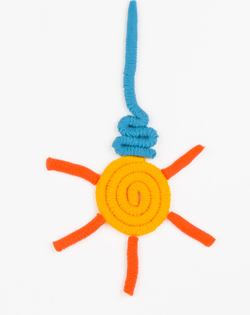 Bulb from children bright plasticine