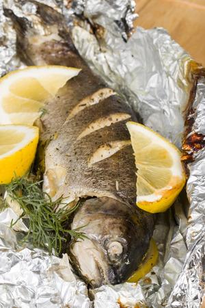 pesce cotto: Pesce cotto - Archivio macro immagine. Archivio Fotografico