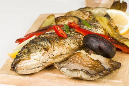pesce cotto: Pesce cotto - Archivio macro Immagine.