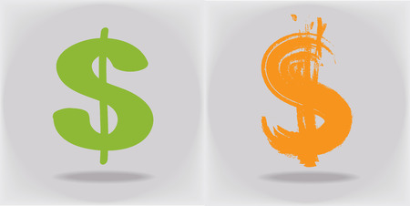 fully editable: Dollar sign. Fully editable vector. Illustration