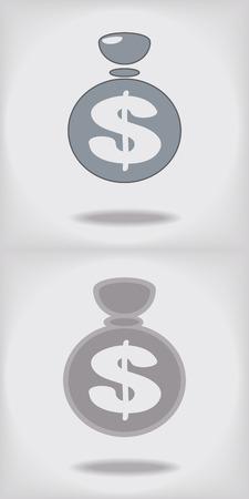 fully editable: Dollar sign Fully editable. Illustration