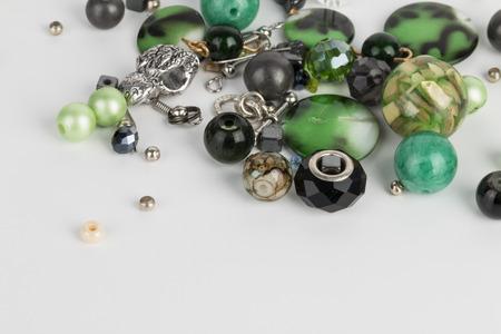 jewelry: Homemade bead jewelry - Stock Image.
