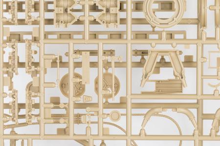 Part of plastic model kit - Stock image macro. Stok Fotoğraf