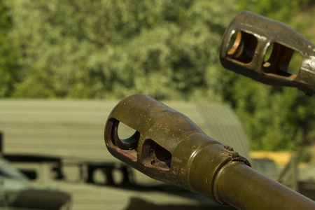 armored: Detail of the Russian armored tank- Stock image .
