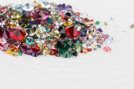 gemology: Collection of many different natural gemstones. Stock Image macro. Stock Photo