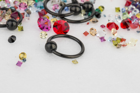 gemstones: Jewelry for piercing and natural gemstones.