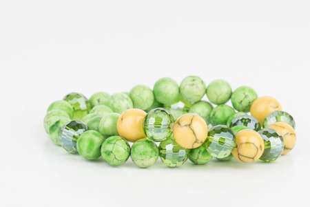 bead jewelry: Homemade bead jewelry - Stock Image.