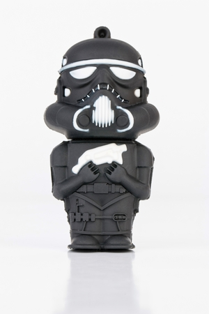 stormtrooper: Rostov - on - Don, Russia - July 31, 2015: Studio shot of Stormtrooper rubber mini figure from the Star Wars. Editorial