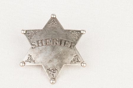 sheriff badge: Insignia del sheriff - Stock imagen de la macro.