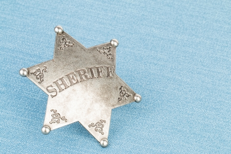 Sheriff badge - Stock image macro.