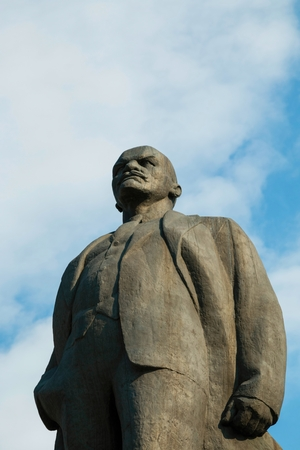 lenina: Russia - August 14, 2015: The statue of Lenin, established in Lenina avenue in Rostov - on - Don.