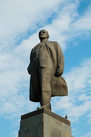 lenina: Russia - August 14, 2015: The statue of Lenin, established in Lenina avenue in Rostov - on - Don.