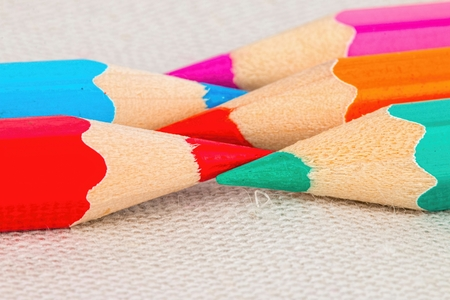 back to school supplies: Drawing supplies: many different colored pencils.