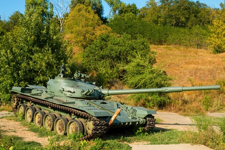 battle tank: Rostov - on - Don, Russia - August 22, 2015: The exhibits of weapons and equipment. Soviet main battle tank T-72.