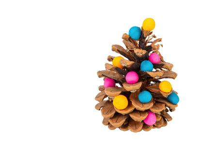 plasticine: Pine cone and plasticine. Stock image macro.