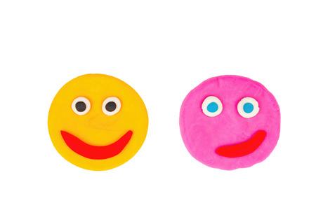plasticine: Plasticine face - Stock Image macro.