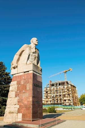 lenina: Azov, Rostov - on - Don region, Russia - September 27, 2015: The statue of Lenin, established in Lenina avenue in Azov. Editorial