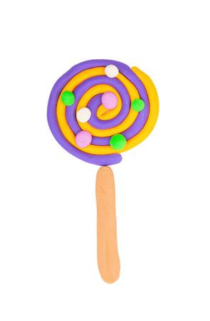 plasticine: Plasticine candy. Stock Image macro.