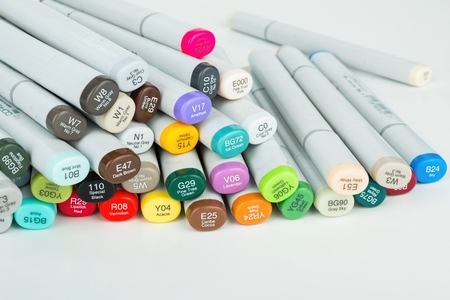 Rostov - on - Don, Russia - November 30, 2015: Copic - permanent marker. The number one selling permanent marker in the world.