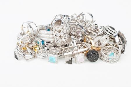 fashion jewelry: Many fashionable womens jewelry - Stock Image macro.