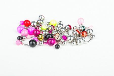body jewelry: Jewelry for piercing - Stock Image macro. Stock Photo