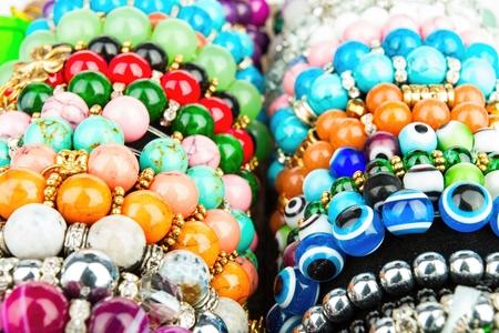 shot: Beads jewelery. Macro shot. Stock Photo