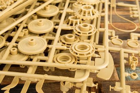 model kit: Part of plastic model kit - Stock image macro. Stock Photo