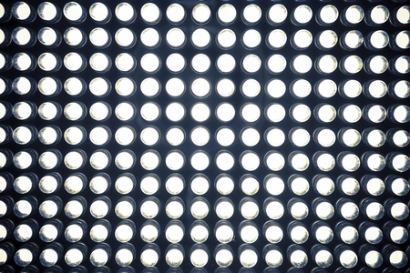 led lighting: Led diode panel with light. Led panel background. Macro shot. Stock Photo