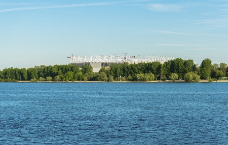 Construction d'un stade de football à Rostov-on-Don. Préparation au championnat.