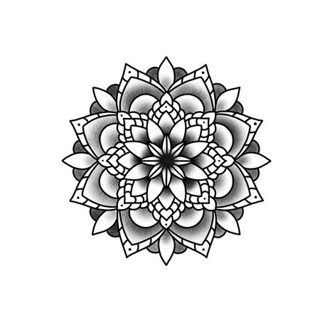 Flower mandala. Vintage decorative element. Islam, Arabic, Indian, ottoman motifs.