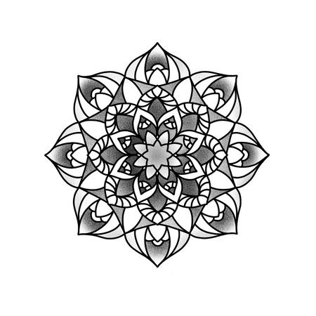 Mandala fleuri. Élément décoratif vintage. Islam, arabe, indien, motifs ottomans. Banque d'images - 84371935