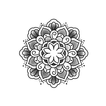 lotus effect: Flower mandala. Vintage decorative element. Islam, Arabic, Indian, ottoman motifs.