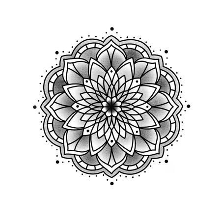 Mandala fleuri. Élément décoratif vintage. Islam, arabe, indien, motifs ottomans. Banque d'images - 84371938