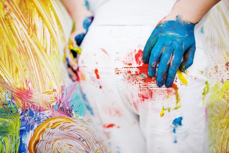 playschool: kids backside painted in bright colors