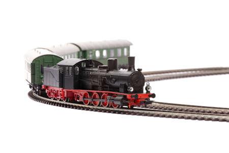 loco: steam loco model isolated over white background Stock Photo
