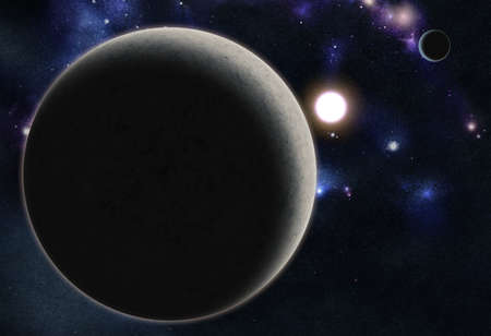 Digital created starfield with cosmic Nebula photo