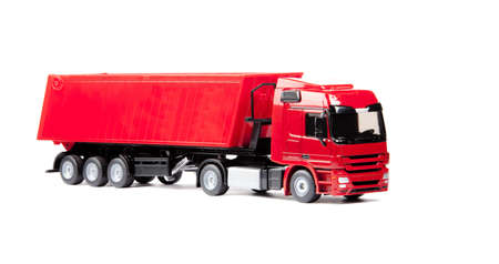 toy heavy truck isolated over white background Stock Photo - 14954007