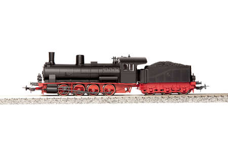 steam locomotives: steam loco model isolated over white background Stock Photo