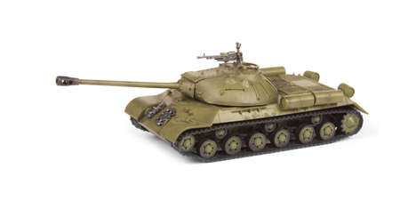 model of old soviet tank isolated on white background  photo