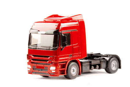 toy truck isolated over white background photo