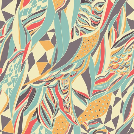 Hand drawn abstract composition. Seamless vector pattern can be used for wallpaper, pattern fills, web page background, surface textures. Ilustração