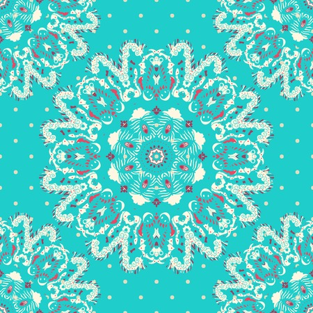 lace like: Elegance lace pattern on a blue background. Circle background with many details, looks like crocheting handmade lace.