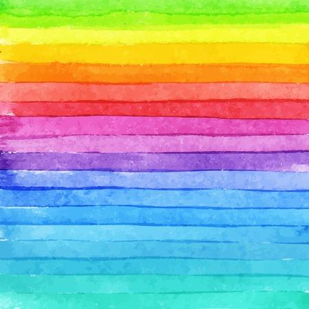 ストライプ手描き水彩背景。 明るく色。スクラップ ブック要素または印刷用の水彩画の組成物。