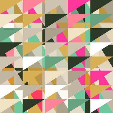 Seamless pattern of geometric shapes. Geometric retro background. Triangle background. Stock Illustratie