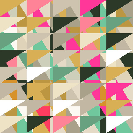 Seamless pattern of geometric shapes. Geometric retro background. Triangle background. Ilustração