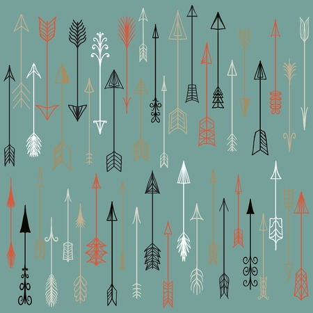 Vector hand drawn arrows collection.  Doodle arrows made by hand drawn. Used for  design, cards and invitations. Vector