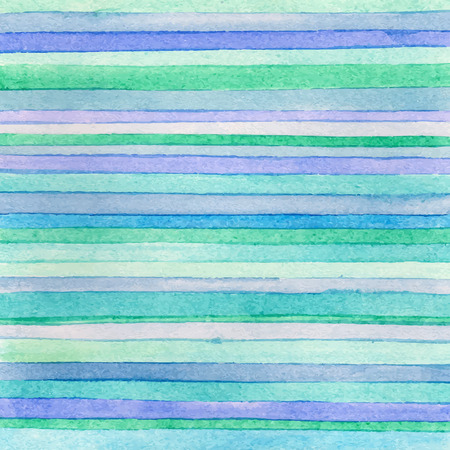 Striped hand drawn watercolor background. Vector version. Blue colors. Hand drawn technique. Watercolor composition for scrapbook elements or print. 免版税图像 - 37717874