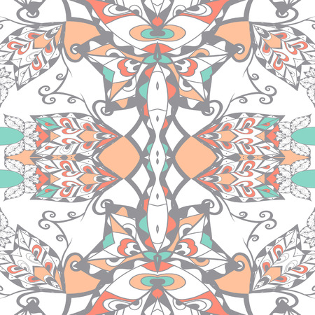 bandanna: Traditional ornamental paisley bandanna. Hand drawn background with artistic pattern.  Seamless pattern can be used for wallpaper, fills, background.