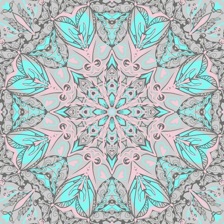bandanna: Traditional ornamental paisley bandanna. Hand drawn background with artistic pattern. Seamless pattern can be used for wallpaper, fills, background