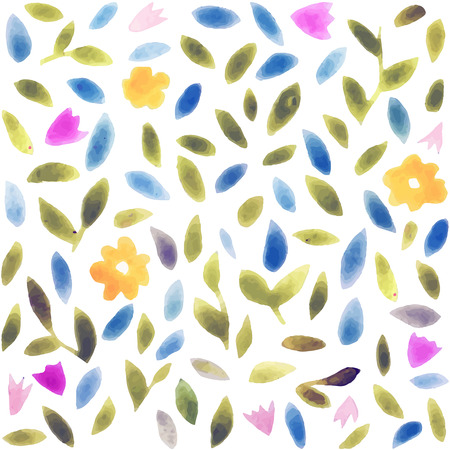 abstract animal: Abstract watercolor flower pattern.